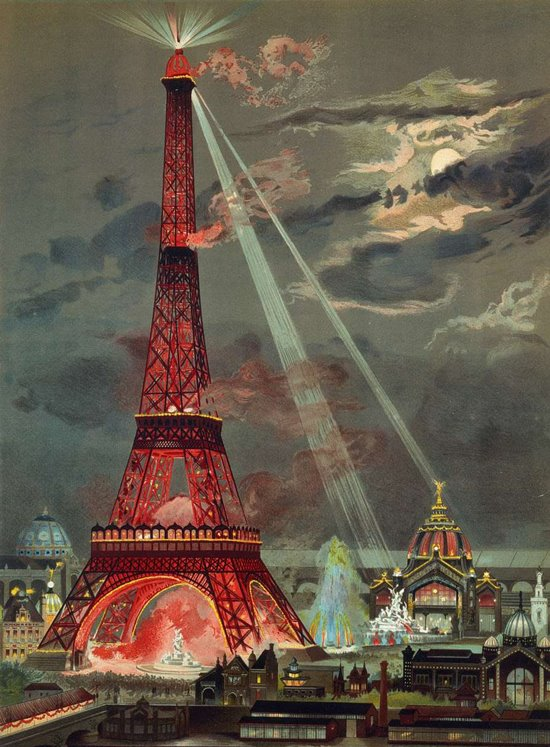 Georges Garen: Embrasement de la Tour Eiffel, 1889