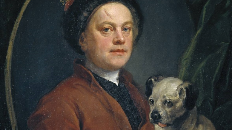 "William Hogarth: Selbstporträt (""The Painter and His Pug""), 1745. Tate Britain"