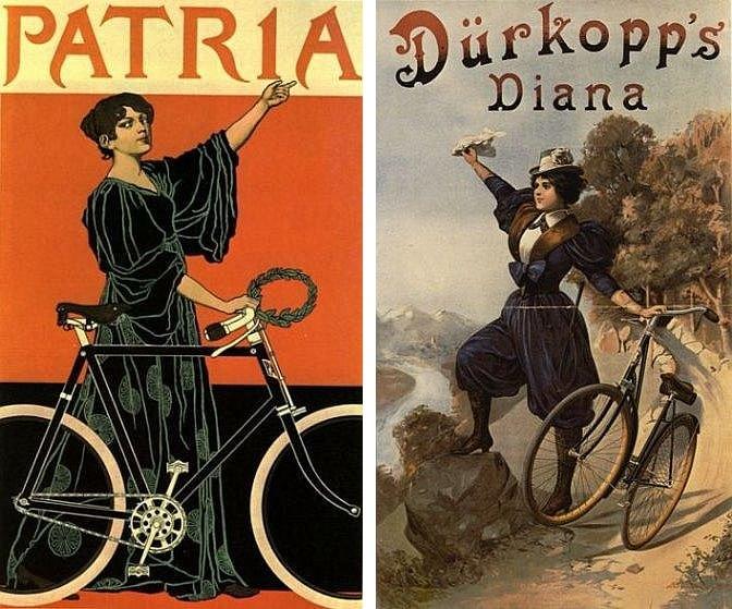 Plakatwerbung für Fahrräder der Marken Patria und Dürkopp (um 1905)