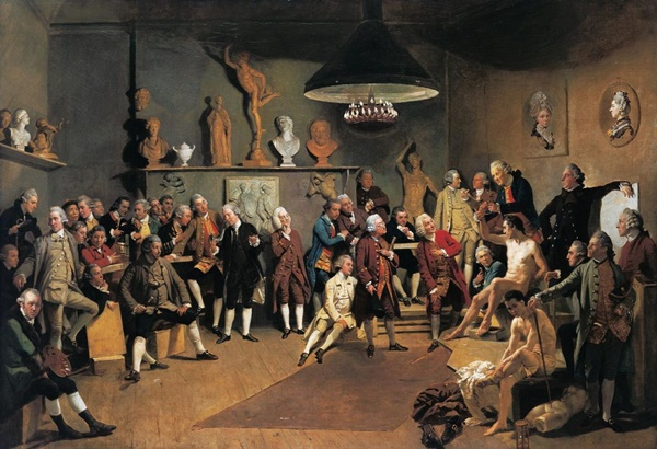 Johann Zoffany: The Academicians of the Royal Academy (1771/72). The Royal Collection