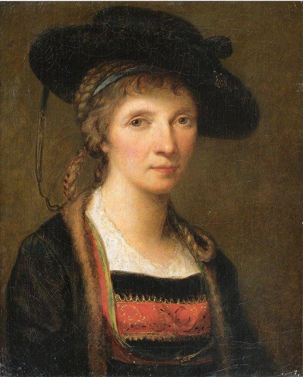 Angelika Kauffmann: Selbstporträt in Bregenzerwälder Tracht (1781). Tiroler Landesmuseum Ferdinandeum