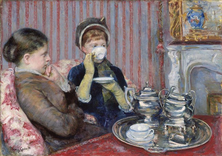 Mary Cassatt (1844–1926), Die Tasse Tee (Museum of Fine Arts, Boston. www.mfa.org)