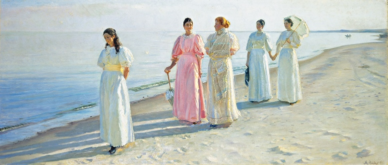Michael Ancher (1849–1927), Spaziergang am Strand