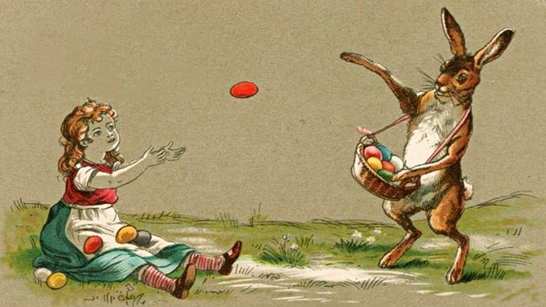 Die Abbildungen dieses Beitrags basieren auf Originalen aus der Zeit um 1900 aus der Sammlung Easter greetings der New York Public Library.