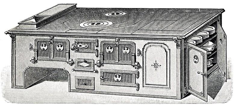 Großküchenherd, um 1905