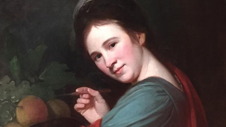 George Romney: Porträt von Mary Moser (Ausschnitt), um 1770. National Portrait Gallery, London (Foto: B. Denscher)