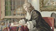 Jan Stolker (1724–1785): Schreibender junger Mann an einem Fenster (Rijksmuseum Amsterdam).