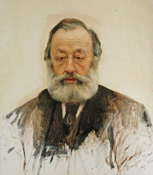 Gottfried Keller, porträtiert von Karl Stauffer-Bern, 1886.
