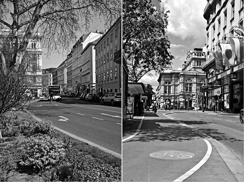 Margaretenstraße (links) und Ringstraße (rechts). Fotos © Norbert Philipp.