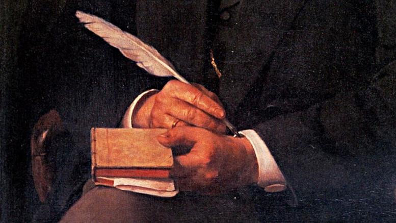 Ausschnitt aus dem Fontane-Porträt von Karl Breitbach.