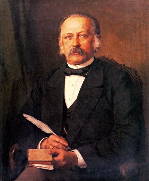 Karl Breitbach: Porträt von Theodor Fontane, 1883.