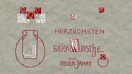 Neujahrskarte aus dem Jahr 1912. Alle im Beitrag abgebildeten Karten stammen aus der Sammlung L. Denscher.