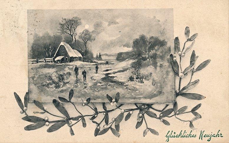 Neujahrskarte 1909.
