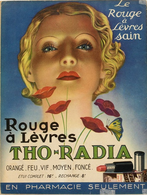 """Lippenstiftwerbung in der französischen Zeitschrift """"Marie-Claire"""", 23. Juli 1937"""