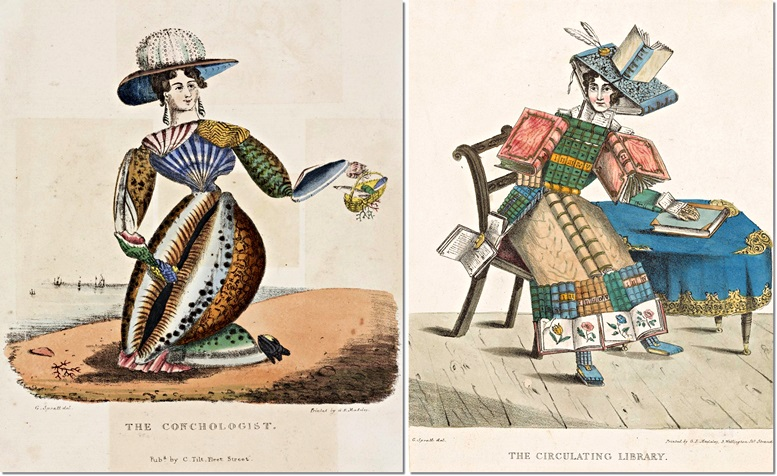 Links: The Conchologist (London Science Museum). Rechts: The Circulating Library (Rijksmuseum Amsterdam)