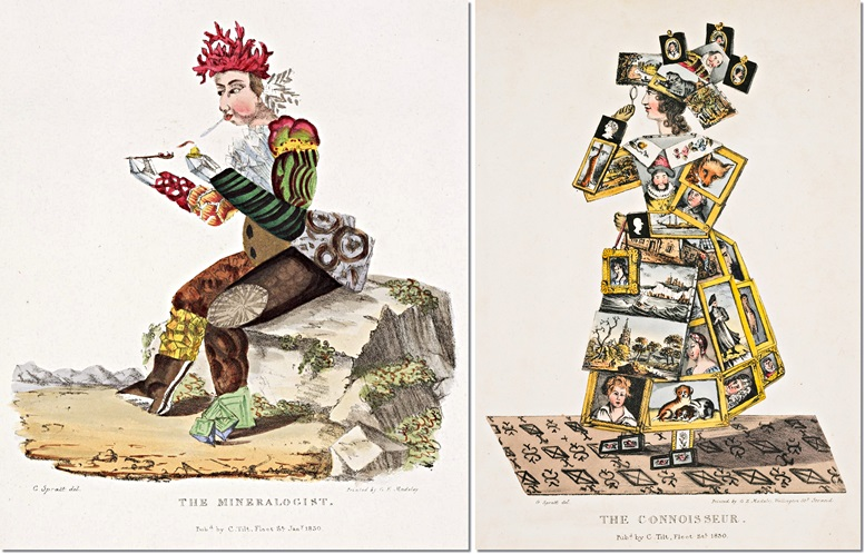 Links: The Mineralogist (London Science Museum). Rechts: The Connoisseur (Yale Center for British Art)