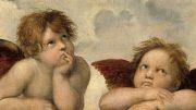 """Raffael, Detail aus dem Gemälde """"Sixtinische Madonna"""". Alle Abbildungen: Wikipedia"""