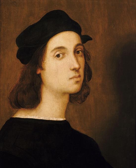 Raffael: Selbstporträt, zwischen 1504 und 1506.