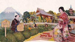 Werbung für japanischen Tee, Mitte 20. Jhdt. Museum of Fine Arts, Boston,