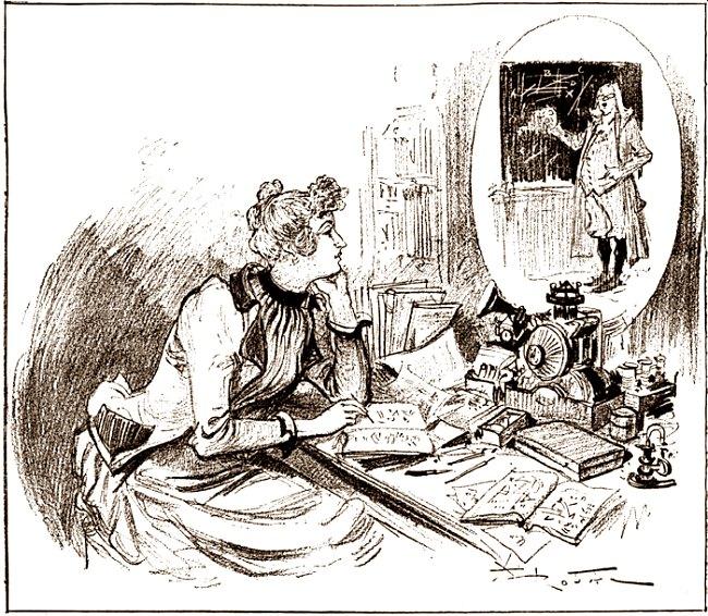 """Illustration aus """"Le Vingtième Siècle. La Vie Électrique"""", 1890."""