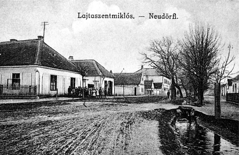 Neudörfl um 1900 (Ansichtskarte / Wikipedia)