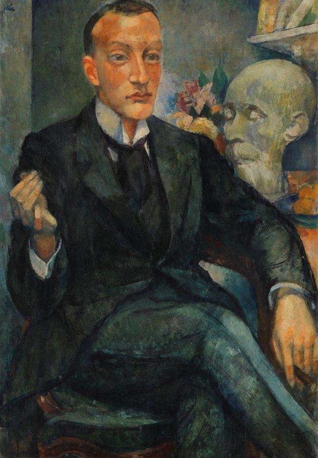 Anita Rée, Bildnis des Literaturhistorikers Albert Malte Wagner, 1920. Repräsentative Porträts wie dieses waren ein wesentlicher Bereich des Schaffens von Anita Rée
