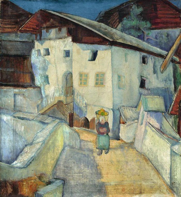 Anita Rée, Haus auf Fels, 1921