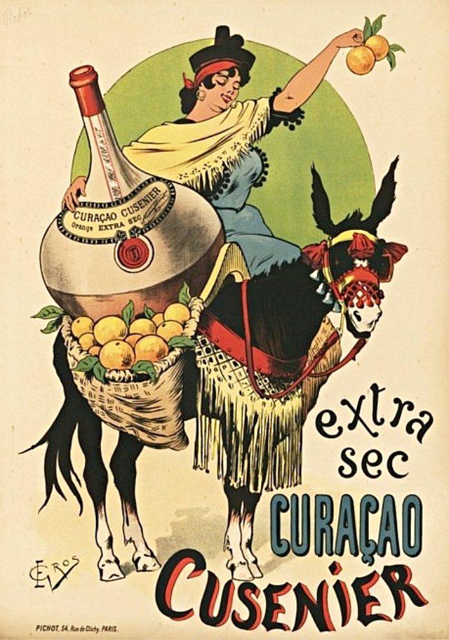 """E. Gros, Plakat für """"Curaçao Cusenier"""", 1899"""