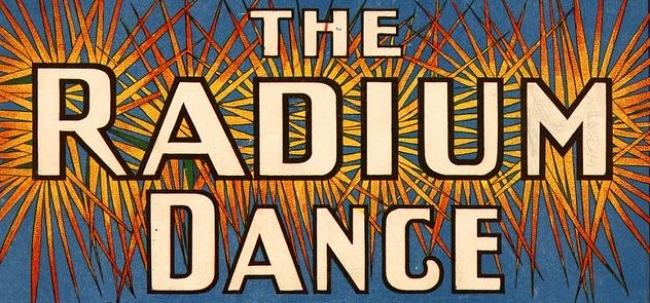 """Ausschnitt aus dem Notentitelblatt von """"The Radium Dance"""""""