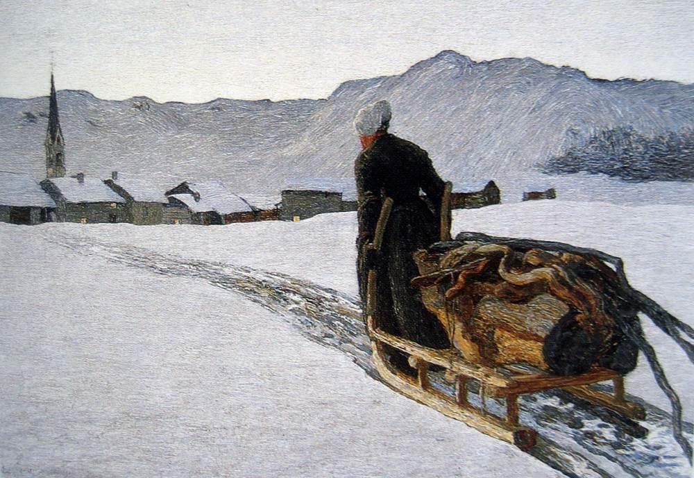 Giovanni Segantini (1858–1899): Rückkehr vom Wald. 1890.