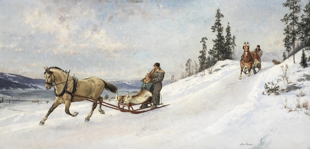 Axel Ender (1853–1920): Winterausflug.
