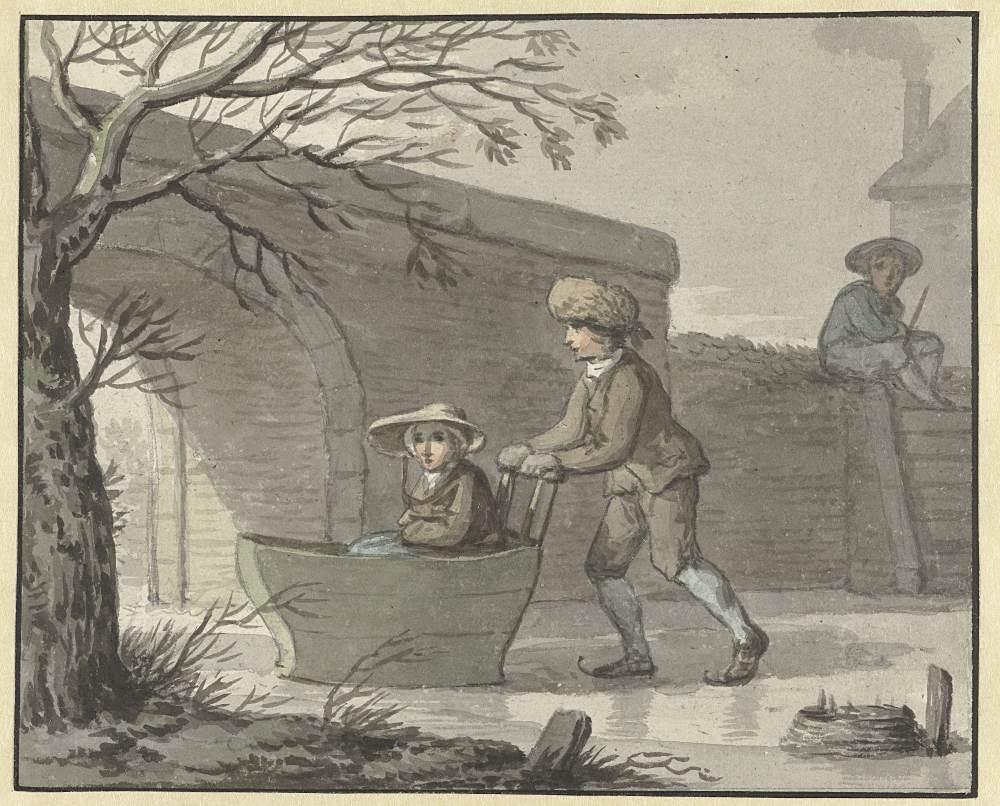 Anthony Andriessen (1747–1813): Schubschlitten