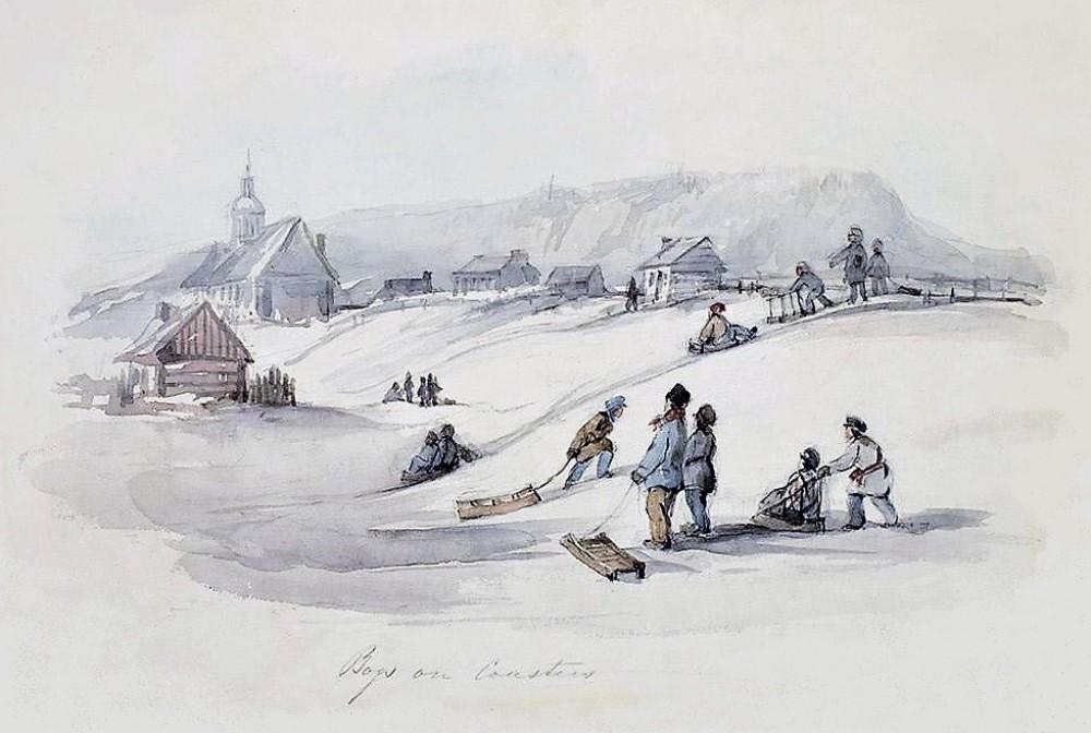 James D. Duncan (1808–1881): Boys on Coasters.