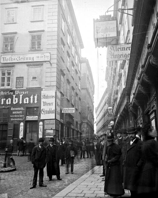 Schulerstraße, 1898 (Foto: (Foto: Österreichische Nationalbibliothek, Bildarchiv und Grafiksammlung / Erwin Pendl)