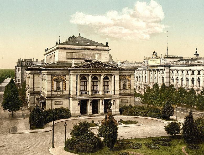 """Das """"Neue Gewandhaus"""" um 1900. Abb. Library of Congress"""