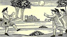 """A company at football"" (Aus: John Ashton, Chap-Books of the Eighteenth Century, London 1882)"