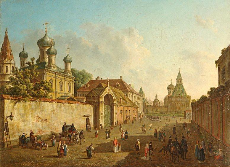 Moskau um 1800. Gemälde von Fjodor J. Alexejew.