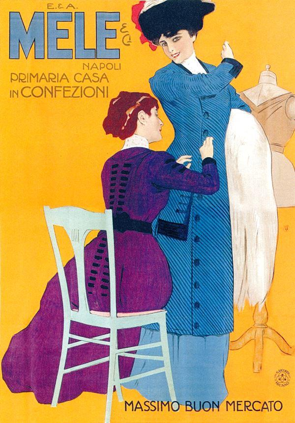 Anonym: Plakat für das Kaufhaus Mele in Neapel, 1911.