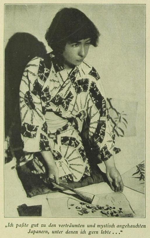 """Foto aus einem Beitrag von Alma M. Karlin in der Aprilausgabe 1931 der Berliner Zeitschrift """"Scherl's Magazin"""""""