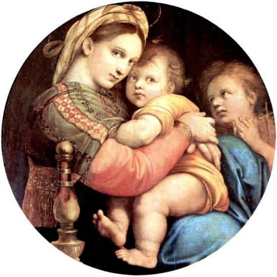 Raffael, Madonna della seggiola, 1513