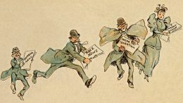 """Detail aus einer Karikatur in der Zeitschrift """"Puck"""", 7.3.1894"""