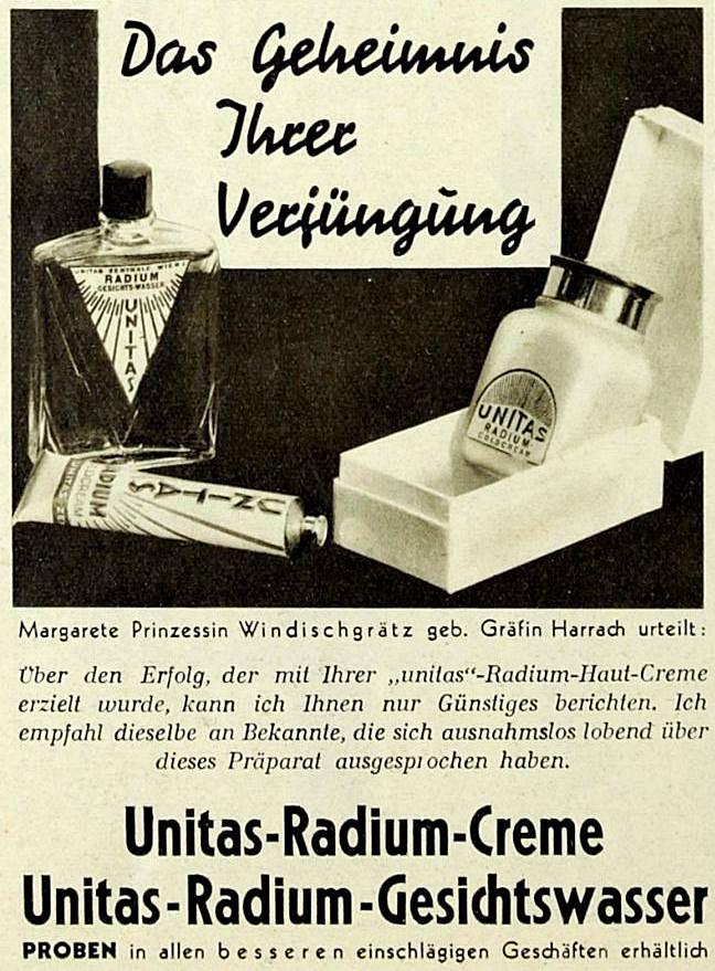 """Werbung in der Wiener Zeitschrift """"Die Bühne"""", Nr. 328, Mai 1932, S. 40."""