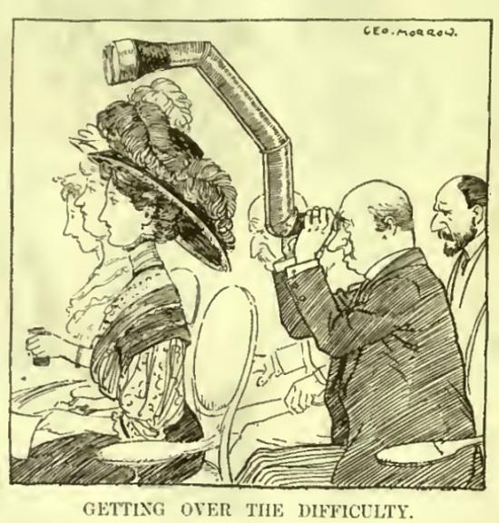 """Karikatur aus der englischen Satire-Zeitschrift """"Punch"""", 14.10.1908, S. 288"""