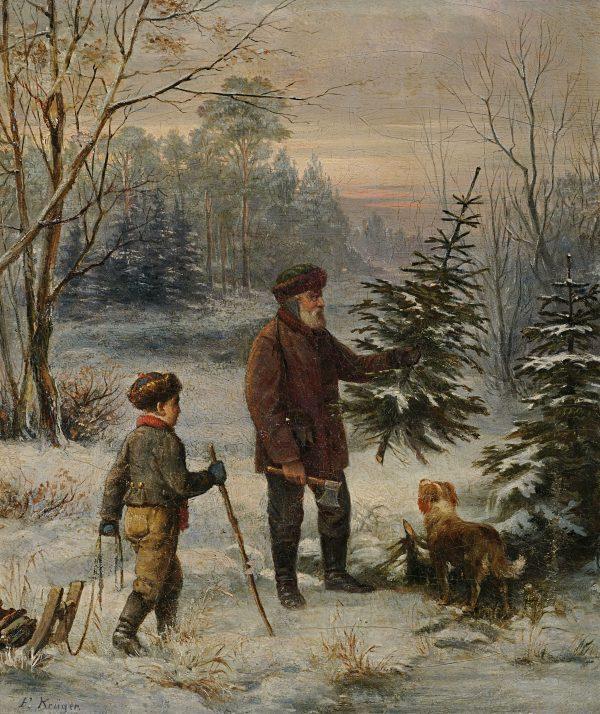 Franz Krüger: Vorweihnacht, 1. Hälfte d. 19. Jhdts. Wikipedia