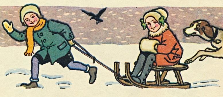 """Franz Wacik (1883-1938): Illustration aus dem Schulbuch """"Wiener Kinder"""". 1924"""