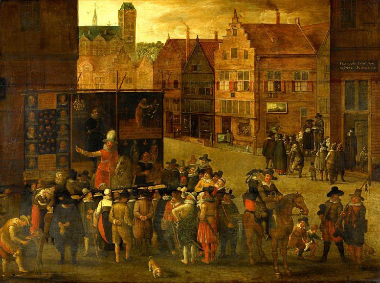 Anonym: Der Quacksalber. Um 1620.