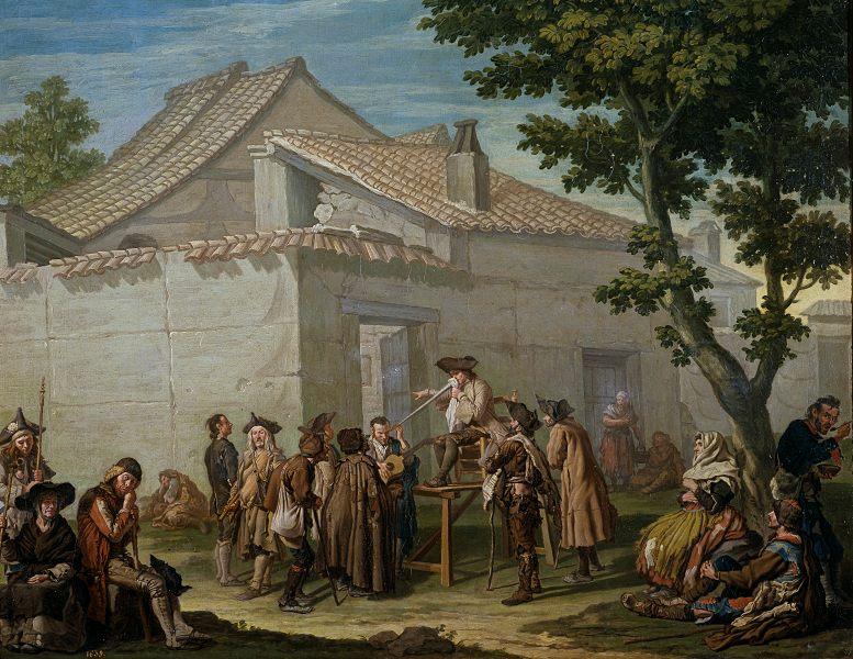 Francesco Sasso: El charlatán de aldea. Mitte des 18. Jahrhunderts.