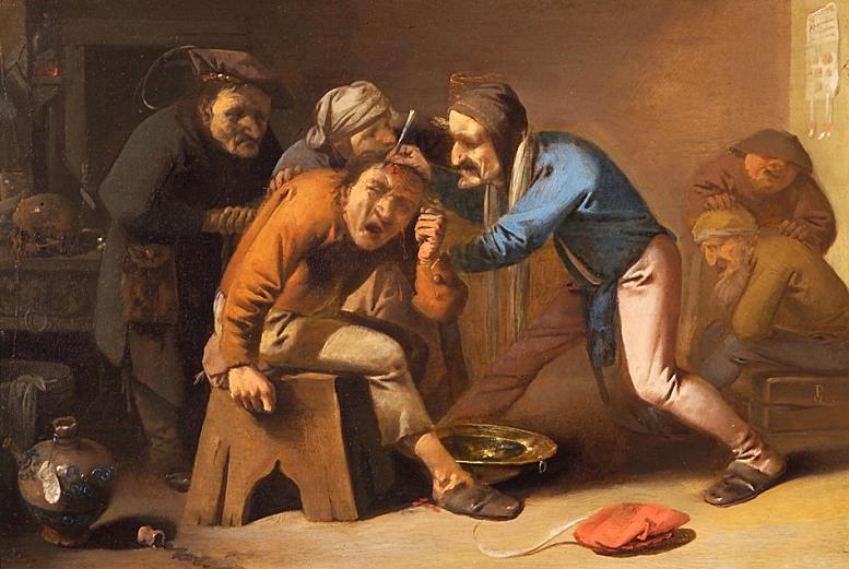 PPieter Quast: Entfernung eines Steines. Um 1630.