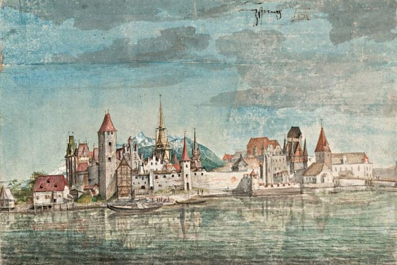 Albrecht Dürer: Innsbruck von Norden (um 1495)