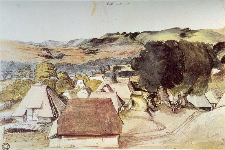 Albrecht Dürer: Ansicht vom Dorf Kalchreuth (um 1495-1500)